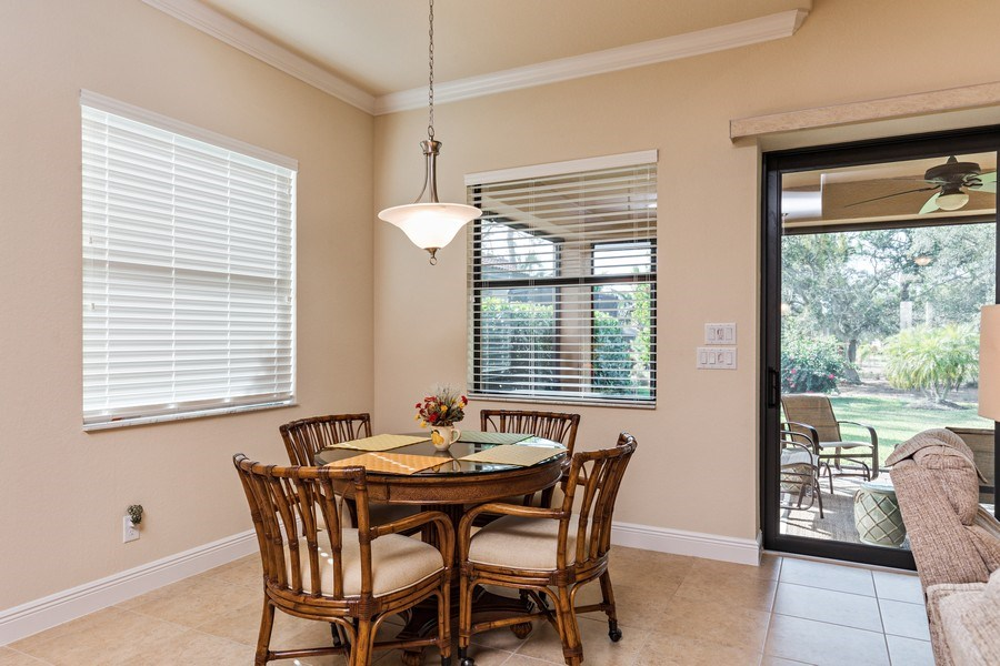 Real Estate Photography - 28556 San Amaro, Naples, FL, 34103 - Breakfast Area