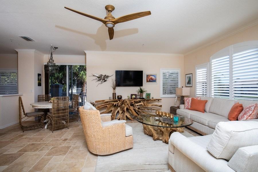 Real Estate Photography - 9060 Palmas Grandes Blvd. #201, Bonita Springs, FL, 34135 - Living Room