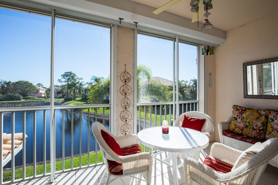 Real Estate Photography - 9060 Palmas Grandes Blvd. #201, Bonita Springs, FL, 34135 - Lanai