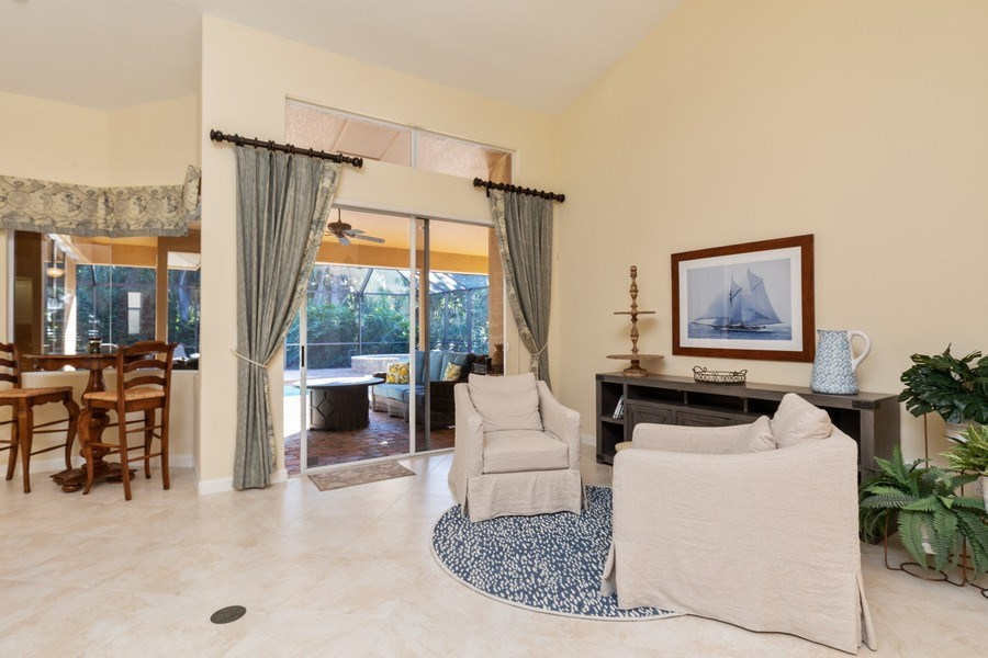 Real Estate Photography - 2077 Imperial Circle, Naples,, FL, 34110 - Living Room