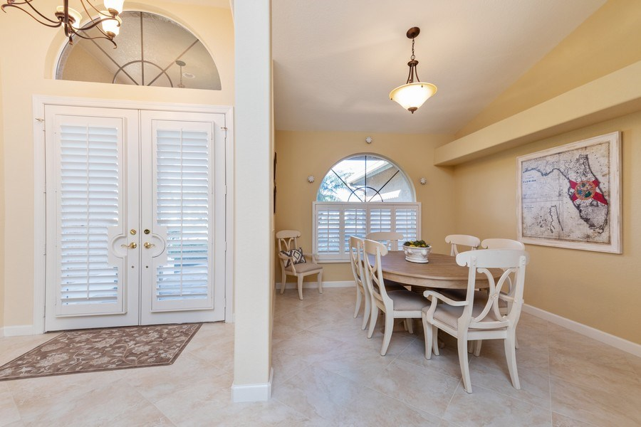 Real Estate Photography - 2077 Imperial Circle, Naples,, FL, 34110 - Foyer/Dining Room