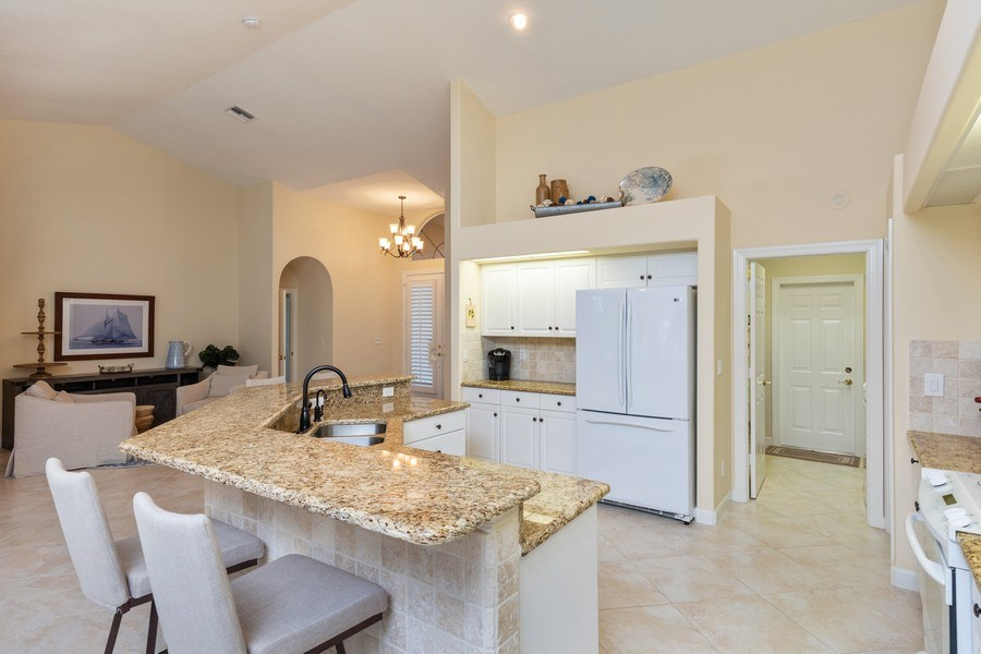 Real Estate Photography - 2077 Imperial Circle, Naples,, FL, 34110 - Kitchen