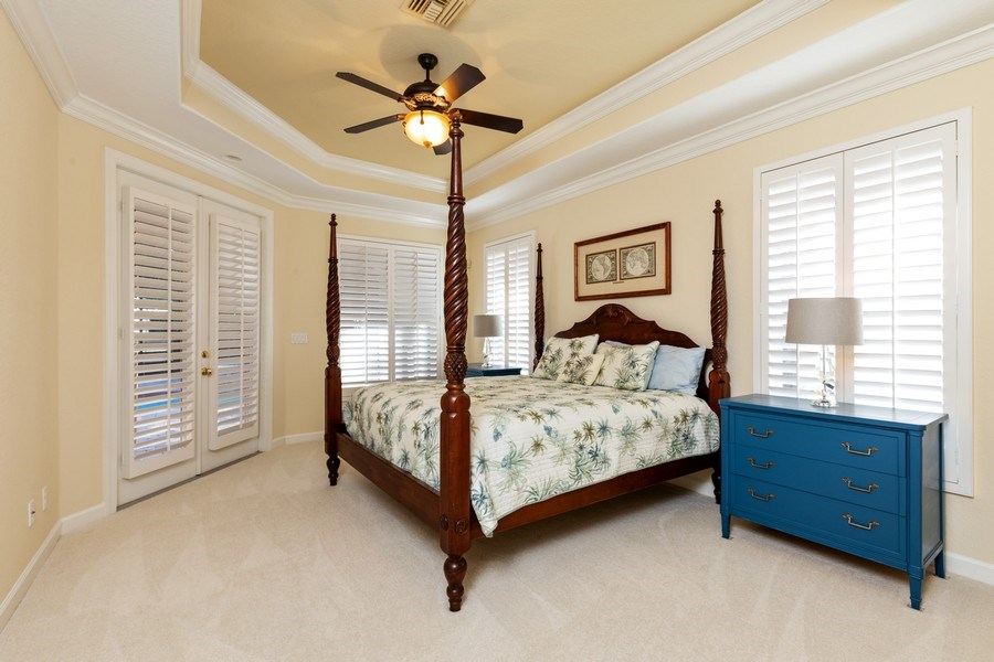 Real Estate Photography - 2077 Imperial Circle, Naples,, FL, 34110 - Master Bedroom