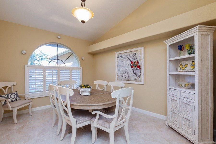 Real Estate Photography - 2077 Imperial Circle, Naples,, FL, 34110 - Dining Room