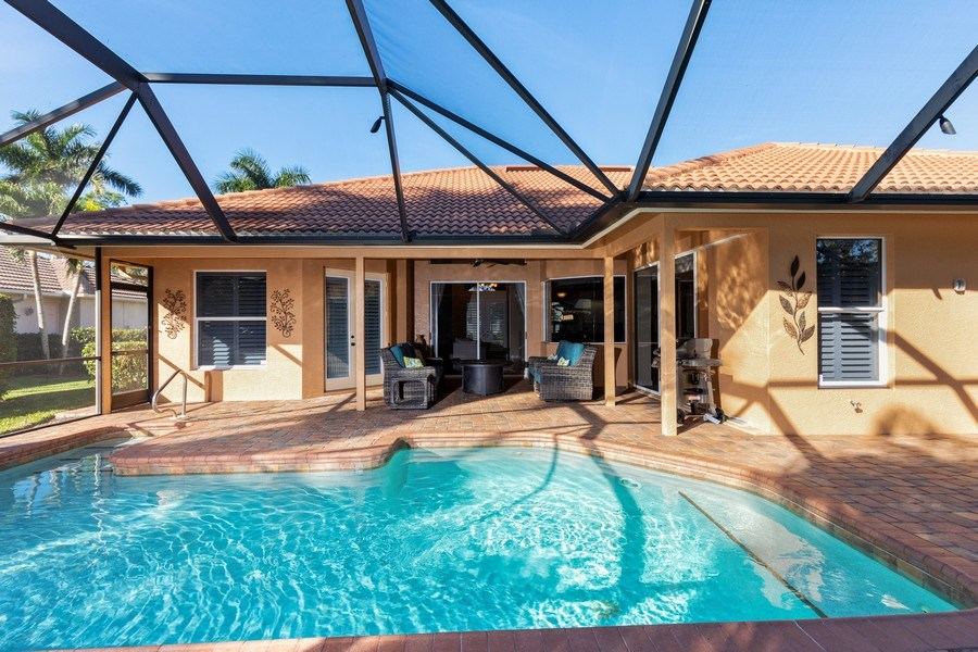 Real Estate Photography - 2077 Imperial Circle, Naples,, FL, 34110 - Pool