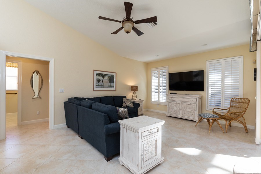 Real Estate Photography - 2077 Imperial Circle, Naples,, FL, 34110 - Family Room