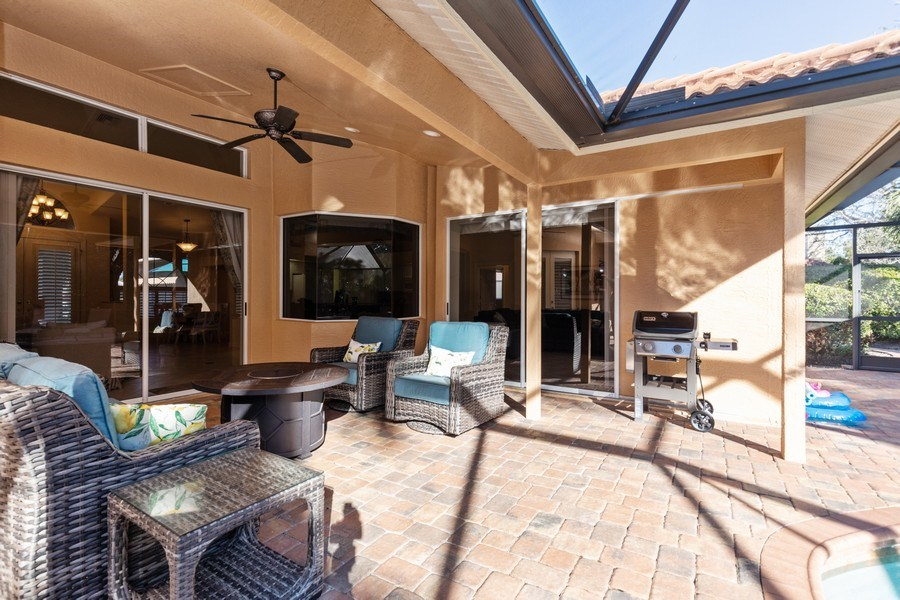 Real Estate Photography - 2077 Imperial Circle, Naples,, FL, 34110 - Lanai