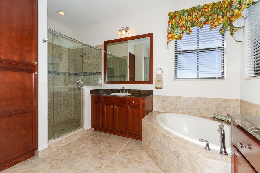 Real Estate Photography - 5055 Milano Street, Ave Maria, FL, 34142 - Master Bathroom