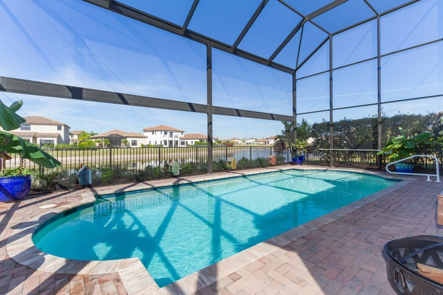 Real Estate Photography - 5055 Milano Street, Ave Maria, FL, 34142 - Pool