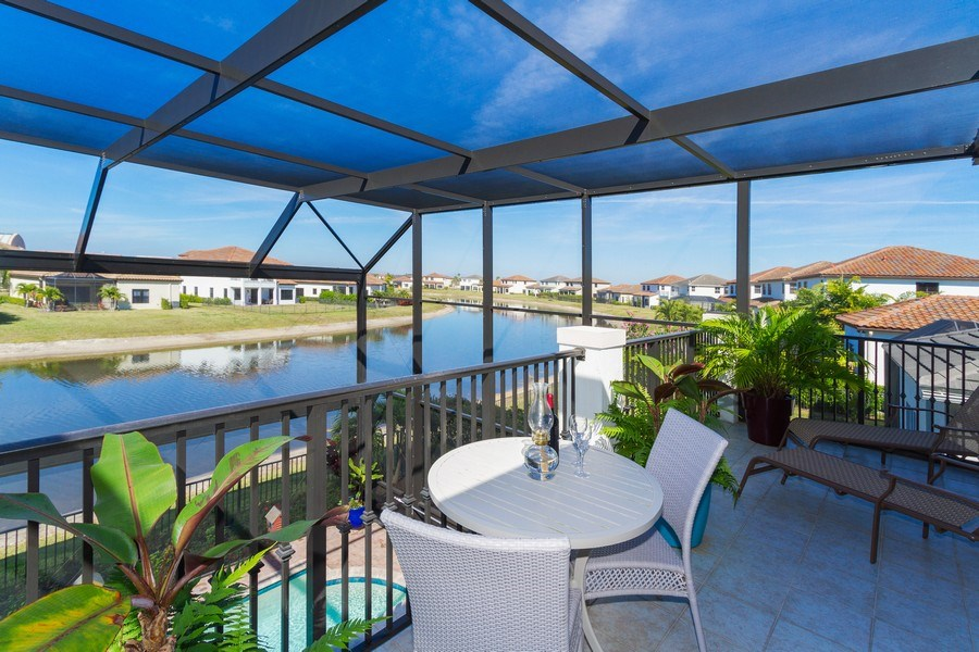 Real Estate Photography - 5055 Milano Street, Ave Maria, FL, 34142 - Balcony