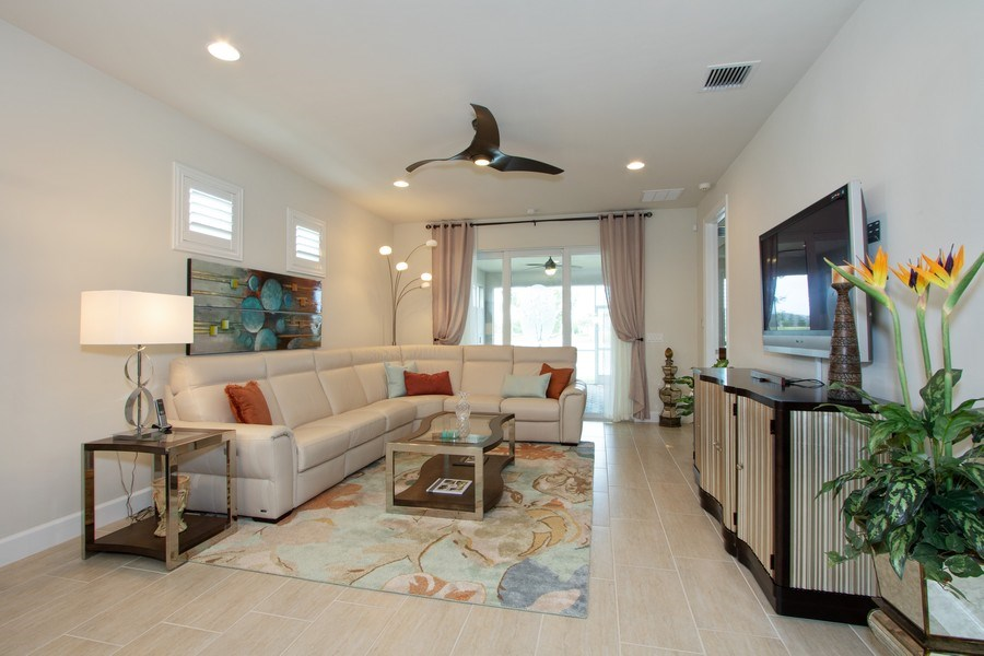 Real Estate Photography - 10670 Jackson Square Drive, Estero, FL, 33928 - Living Room