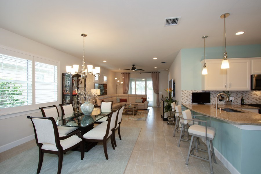 Real Estate Photography - 10670 Jackson Square Drive, Estero, FL, 33928 - Living Room / Dining Room