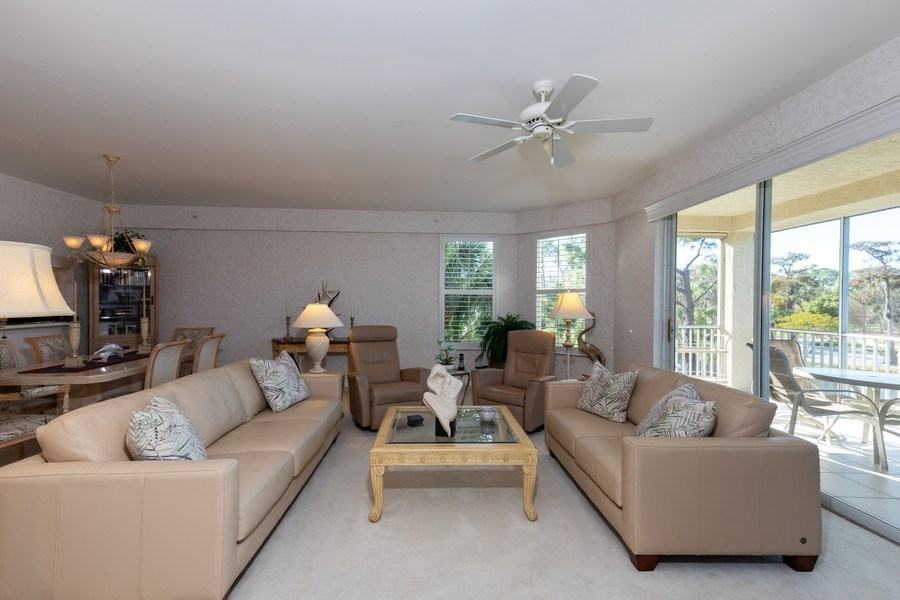 Real Estate Photography - 300 Wyndemere Way302, Naples, FL, 34105 - Living Room