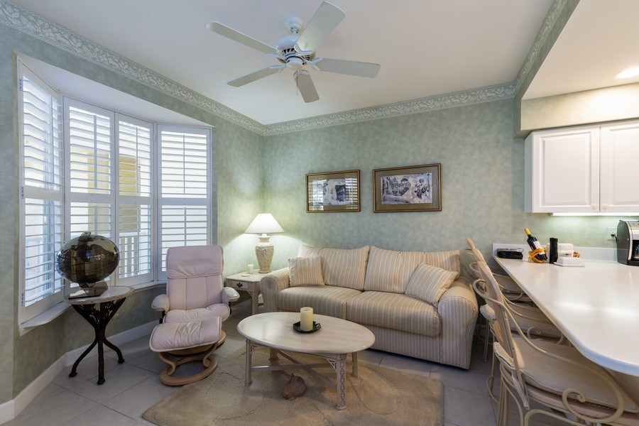 Real Estate Photography - 300 Wyndemere Way302, Naples, FL, 34105 - Den