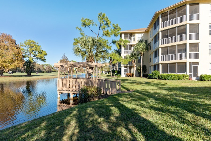 Real Estate Photography - 300 Wyndemere Way302, Naples, FL, 34105 - Rear View