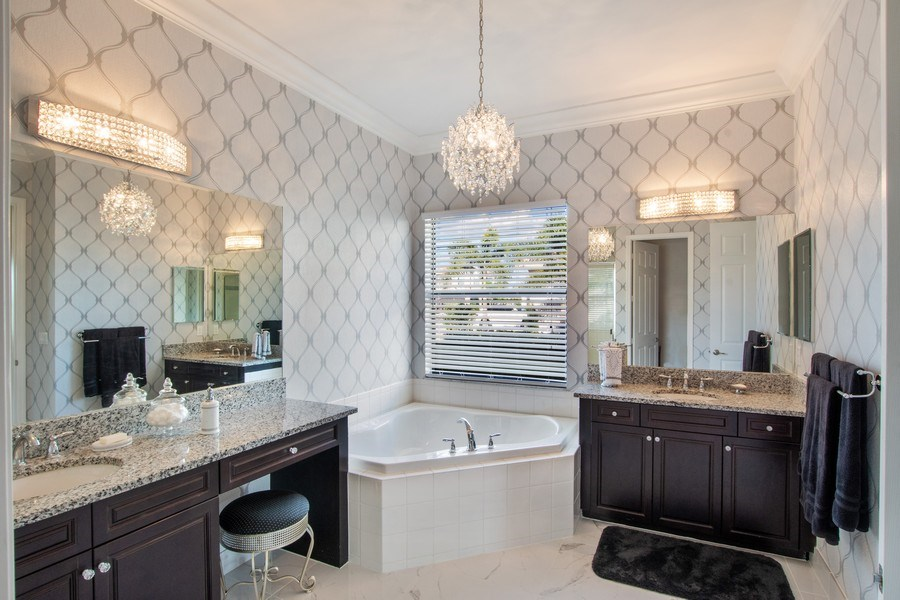 Real Estate Photography - 4206 Amelia Way, Stonecreek, Naples, FL, 34119 - Master Bathroom