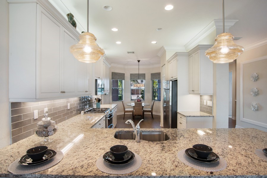 Real Estate Photography - 4206 Amelia Way, Stonecreek, Naples, FL, 34119 - Kitchen