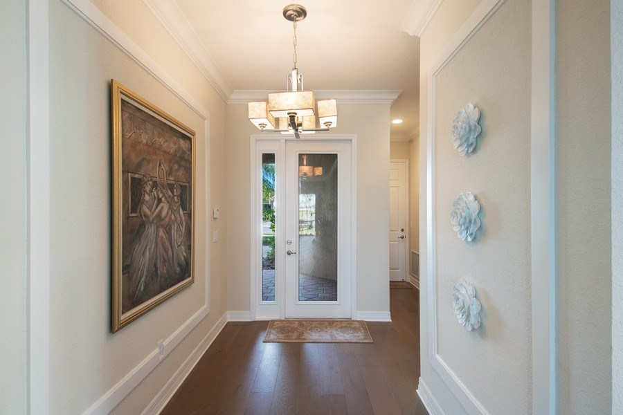 Real Estate Photography - 4206 Amelia Way, Stonecreek, Naples, FL, 34119 - Foyer