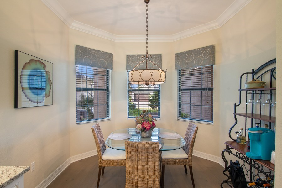 Real Estate Photography - 4206 Amelia Way, Stonecreek, Naples, FL, 34119 - Dining Area
