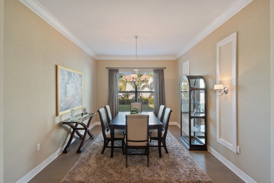 Real Estate Photography - 4206 Amelia Way, Stonecreek, Naples, FL, 34119 - Dining Room