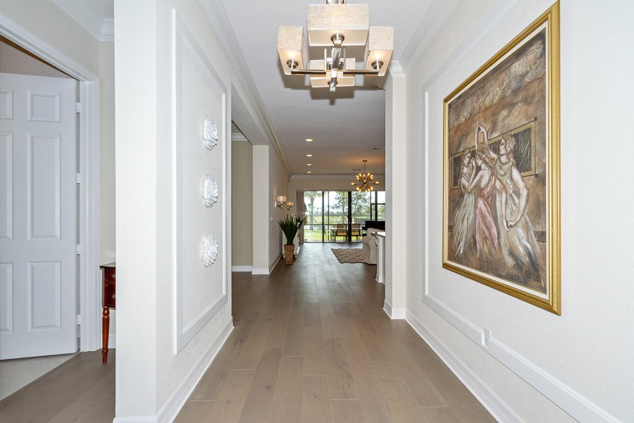 Real Estate Photography - 4206 Amelia Way, Stonecreek, Naples, FL, 34119 - Hallway