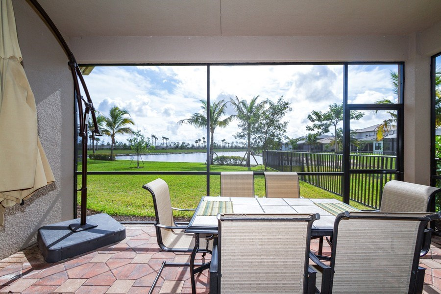 Real Estate Photography - 4206 Amelia Way, Stonecreek, Naples, FL, 34119 - Lanai