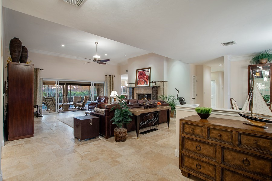 Real Estate Photography - 2016 Imperial Golf Course Blvd, Naples, FL, 34110 - Living Room