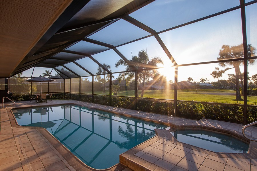 Real Estate Photography - 2016 Imperial Golf Course Blvd, Naples, FL, 34110 - Pool