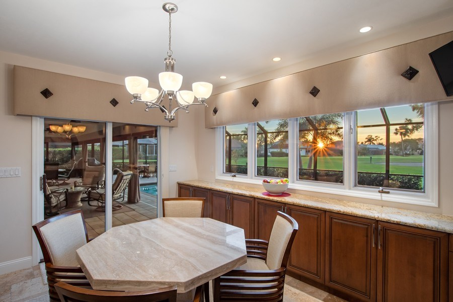 Real Estate Photography - 2016 Imperial Golf Course Blvd, Naples, FL, 34110 - Dining Area 2