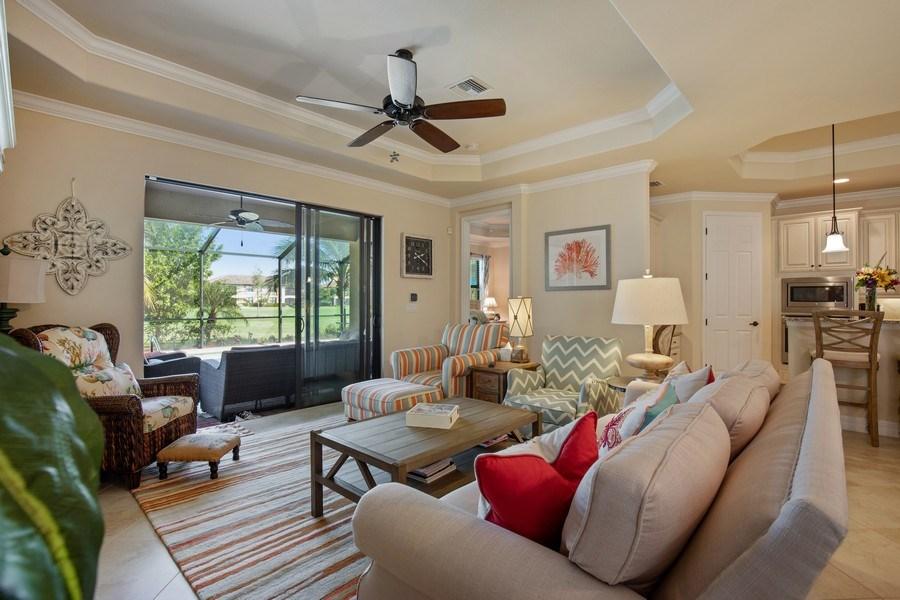 Real Estate Photography - 28537 Westmeath Ct., Bonita Springs, FL, 34135 - Living Room