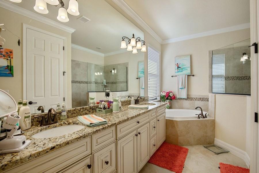 Real Estate Photography - 28537 Westmeath Ct., Bonita Springs, FL, 34135 - Master Bathroom