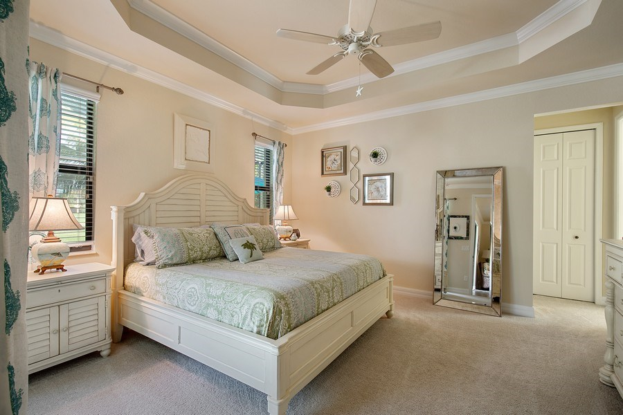 Real Estate Photography - 28537 Westmeath Ct., Bonita Springs, FL, 34135 - Master Bedroom