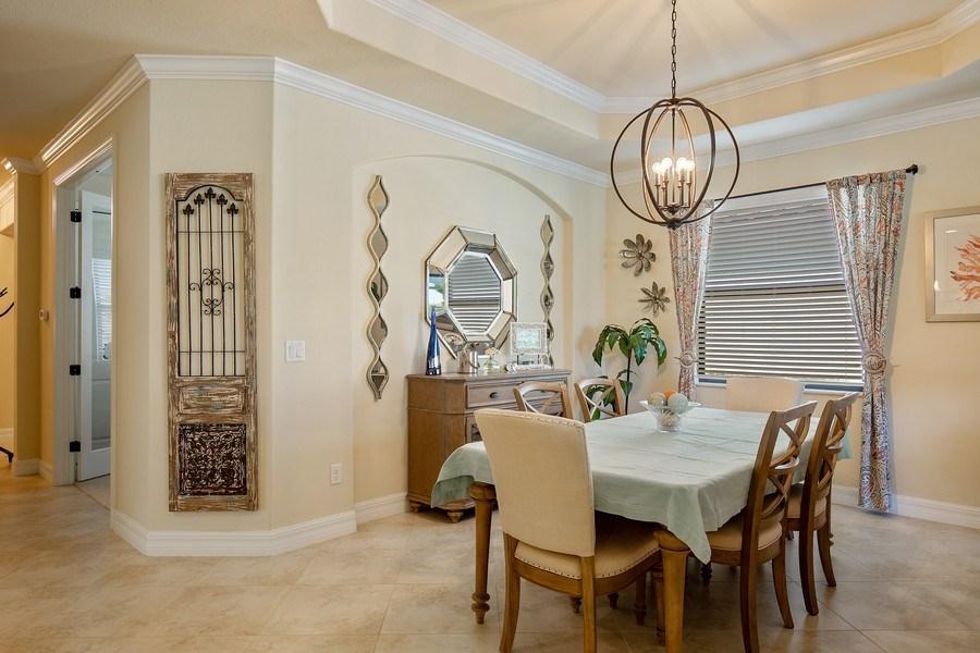 Real Estate Photography - 28537 Westmeath Ct., Bonita Springs, FL, 34135 - Dining Room