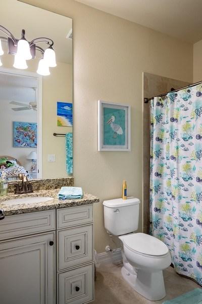 Real Estate Photography - 28537 Westmeath Ct., Bonita Springs, FL, 34135 - 2nd Bathroom