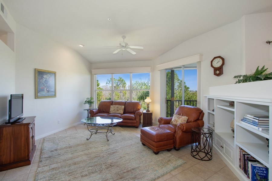 Real Estate Photography - 24360 Sandpiper Isle Way, 202, Bonita Springs, FL, 34134 - Living Room
