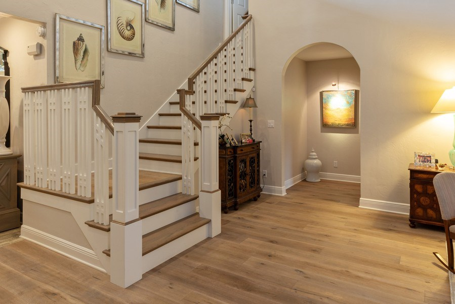 Real Estate Photography - 364 Edgemere Way North, Naples, FL, 34105 - Staircase