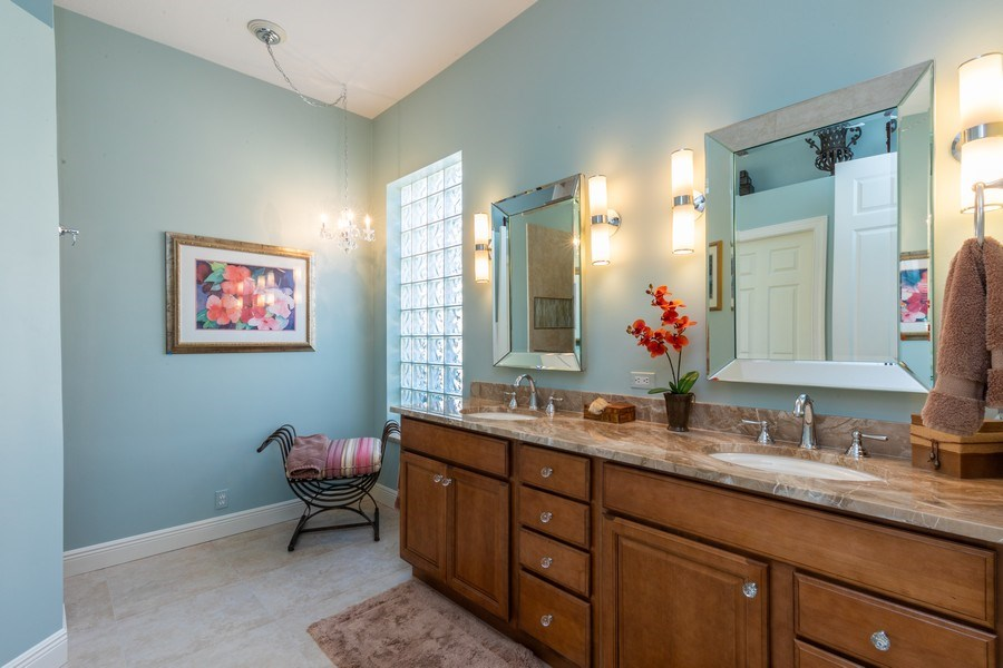 Real Estate Photography - 9288 Troon Lakes Drive, Naples, FL, 34109 - Master Bathroom