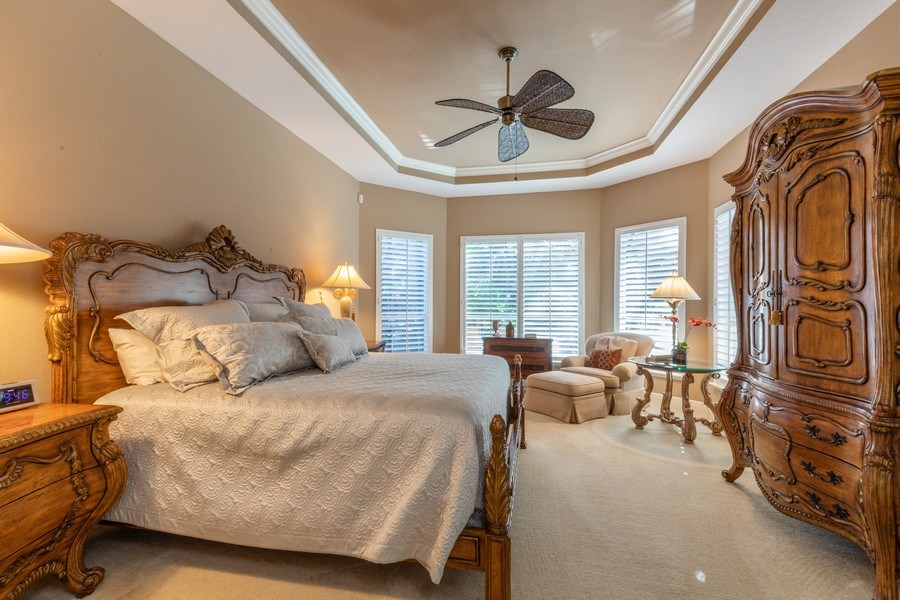 Real Estate Photography - 9288 Troon Lakes Drive, Naples, FL, 34109 - Master Bedroom
