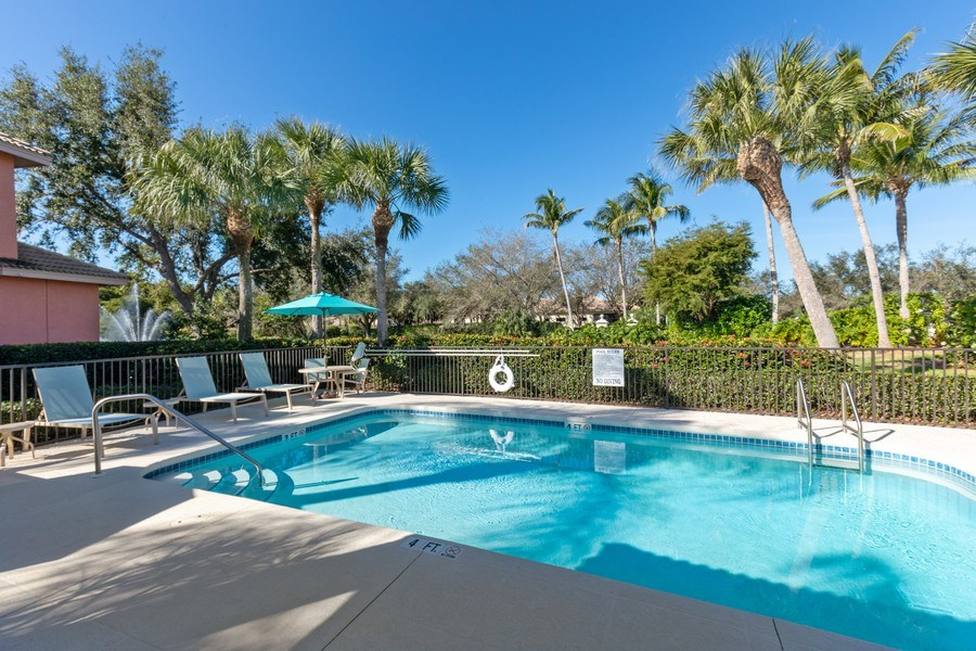 Real Estate Photography - 9288 Troon Lakes Drive, Naples, FL, 34109 - Pool