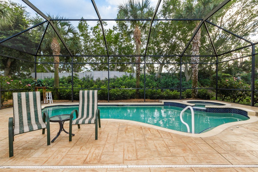 Real Estate Photography - 8848 Ventura Way, Naples, FL, 34109 - Pool
