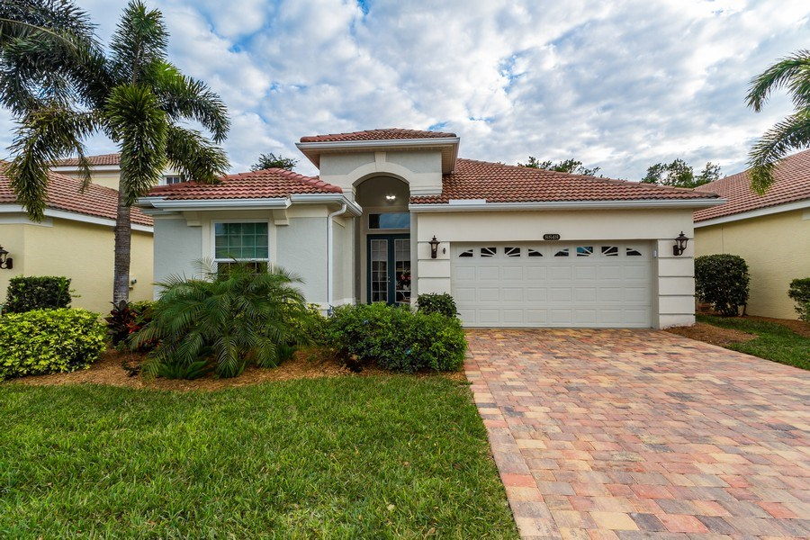 Real Estate Photography - 8848 Ventura Way, Naples, FL, 34109 - Front View