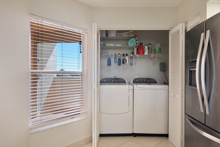 Real Estate Photography - 100 Stevens Landing #206, Marco Island, FL, 34145 - Laundry Room