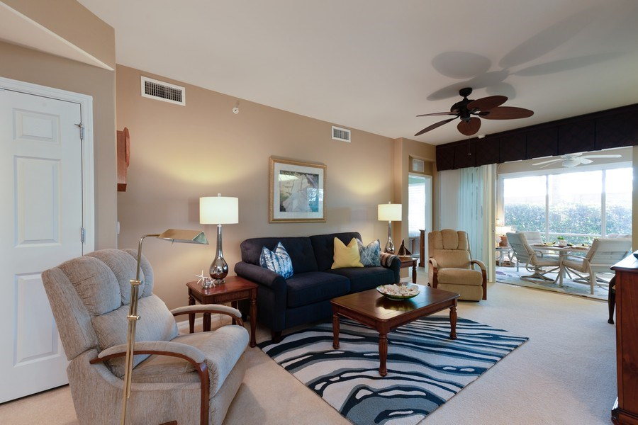Real Estate Photography - 11610 Navarro Way, #2302, Fort Myers, FL, 33908 - Living Room