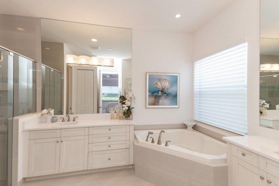 Real Estate Photography - 4213 Amelia Way, (Stonecreek), Naples, FL, 34119 - Master Bathroom