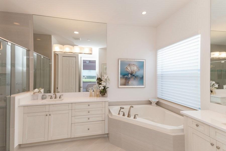 Real Estate Photography - 4213 Amelia Way, (Stonecreek), Naples, FL, 34119 - Master Bathroom