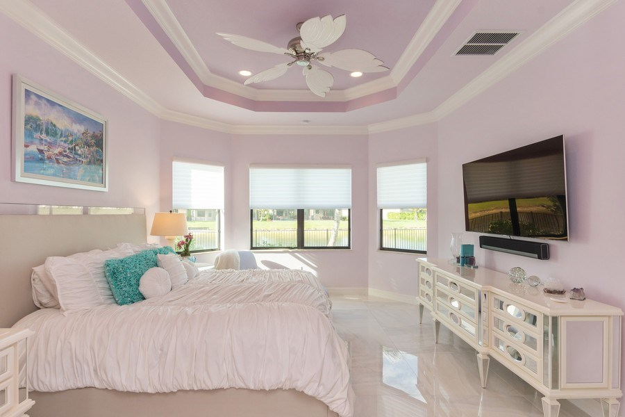 Real Estate Photography - 4213 Amelia Way, (Stonecreek), Naples, FL, 34119 - Master Bedroom