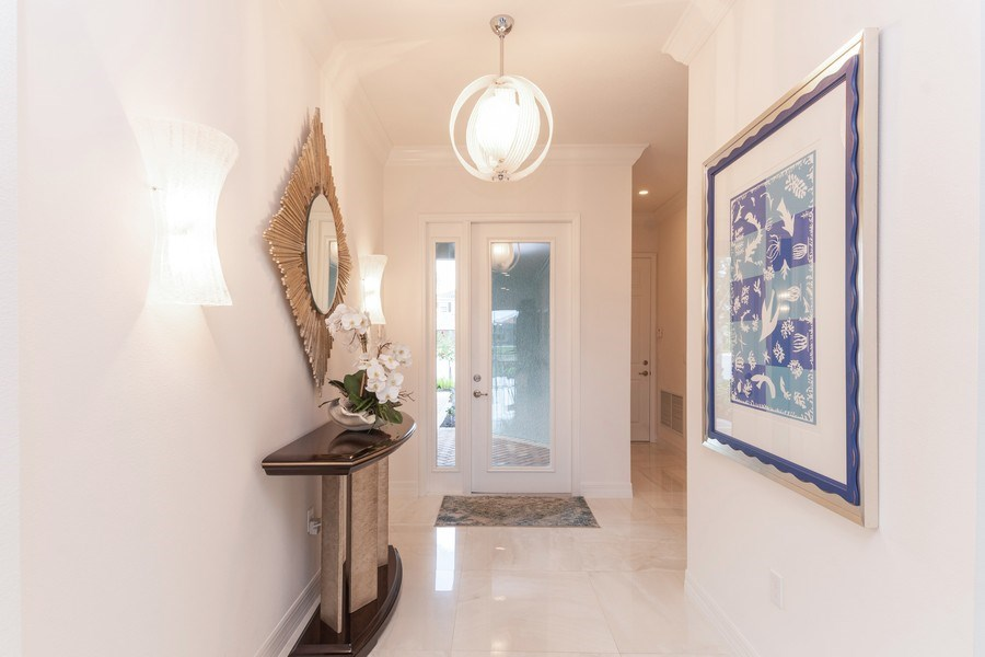 Real Estate Photography - 4213 Amelia Way, (Stonecreek), Naples, FL, 34119 - Foyer
