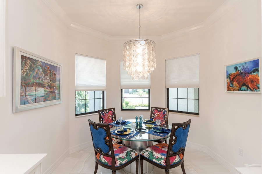 Real Estate Photography - 4213 Amelia Way, (Stonecreek), Naples, FL, 34119 - Dining Area 2