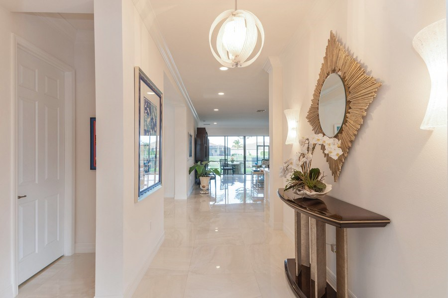 Real Estate Photography - 4213 Amelia Way, (Stonecreek), Naples, FL, 34119 - Hallway