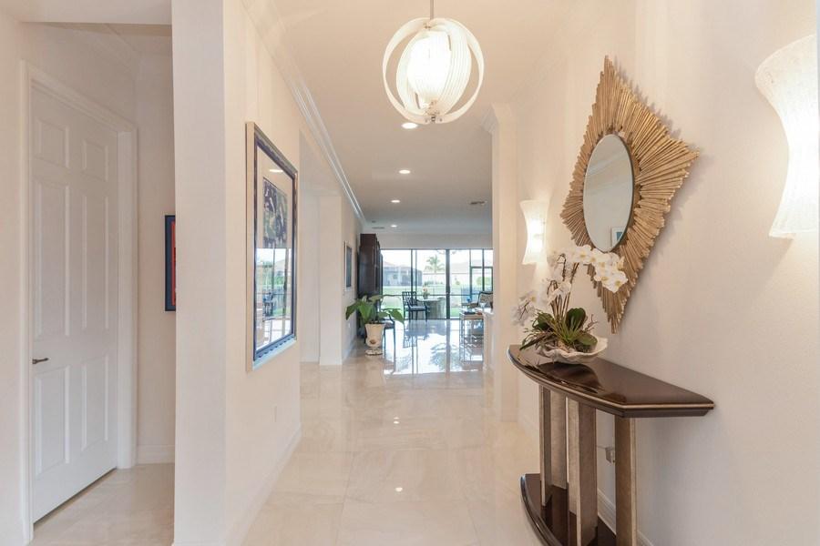 Real Estate Photography - 4213 Amelia Way, (Stonecreek), Naples, FL, 34119 - Hallway